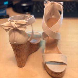 Bamboo Wedge Cork Platform Open Toe Sandal
